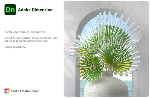 Adobe Dimension CC 2020 Logo