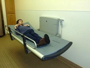 Pressalit Care Changing Table with student