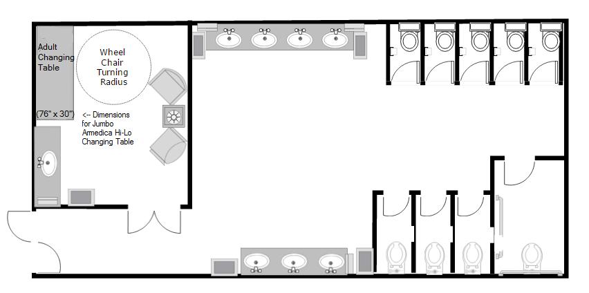 Family restroom suite floor plan