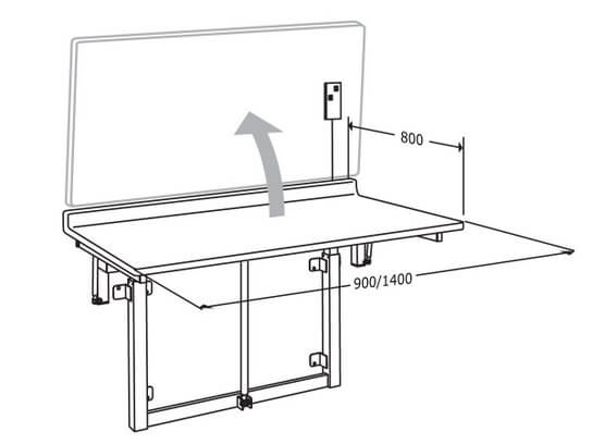 Folding Daycare Table dimensions