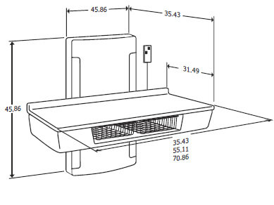 Wall Mount Diaper Changing Station Dimensions