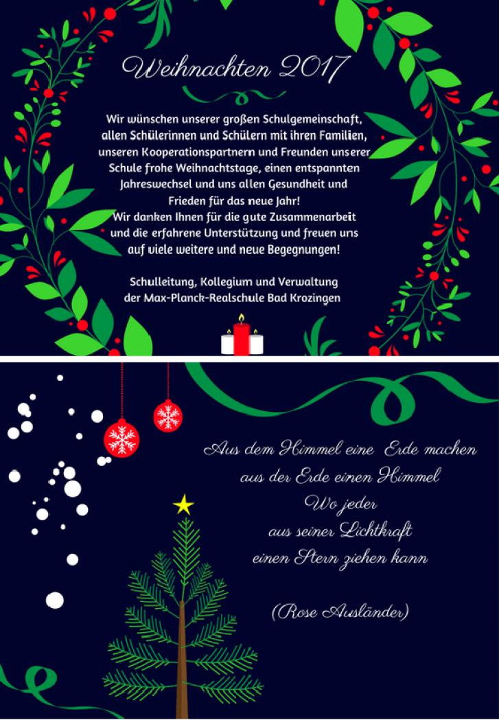 Weihnachtskarte ganz