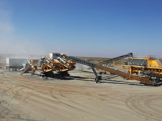 300TPH aggregates project Western Australia