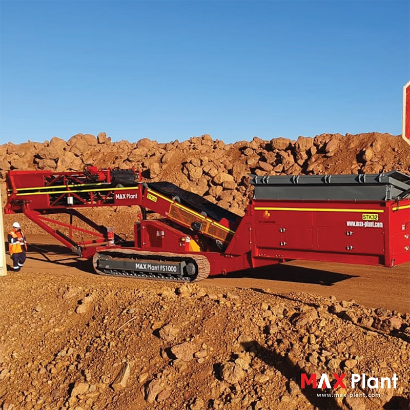 MAX Plant FS1000 feeder stacker tailings project western australia