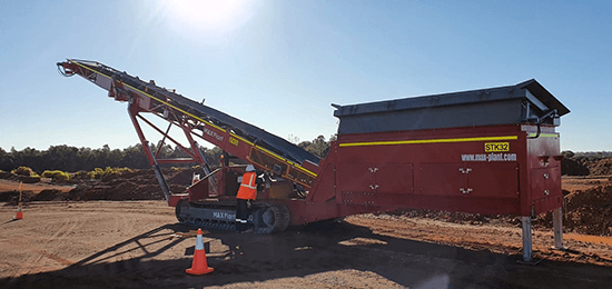 MAX Plant Track mobile Feeder Stacker