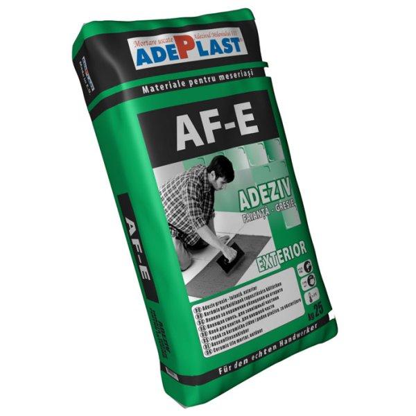 Adeziv pentru gresie si faianta ADEPLAST AF-E gri, 25 kg, pentru exterior