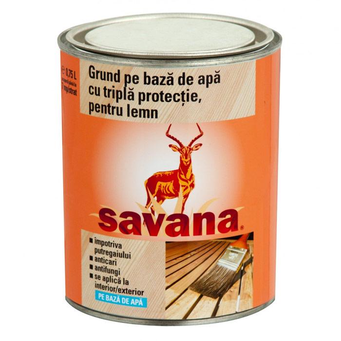 Grund pentru lemn cu tripla protectie Savana pe baza de apa
