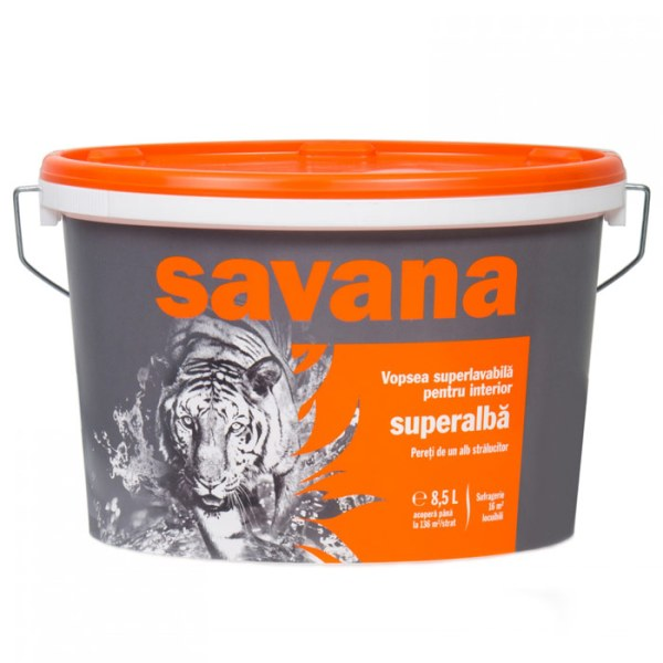 Vopsea Savana superlavabila, superalba, interior 8.5l