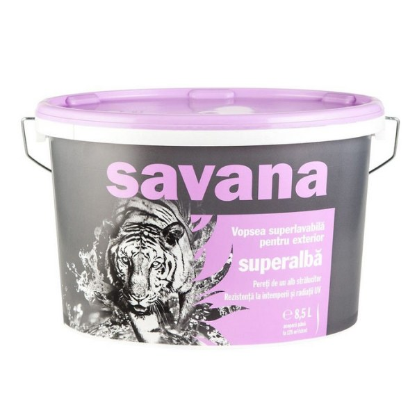 Vopsea Savana superlavabila, alba, exterior 8.5l