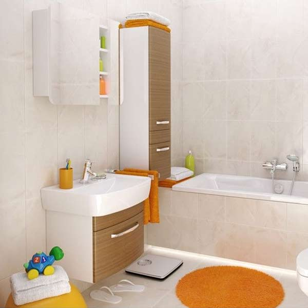 Dulap baie suspendat Cersanit Pure, 120 cm, culoare nuc
