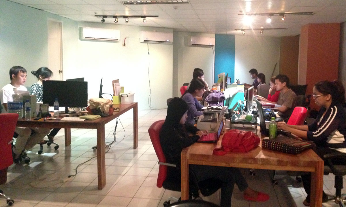 Cebu-based developers work on a website to centralize Super typhoon Yolanda damage and relief information.
