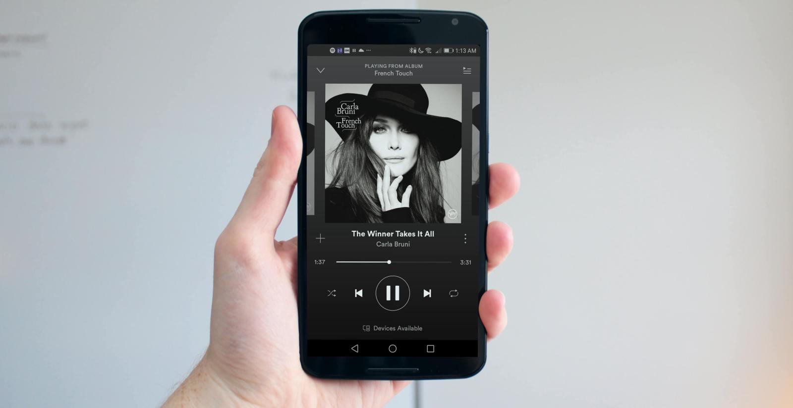Spotify Carla Bruni