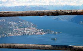 Maggiore Lake, Verbania from the top of Mottarone