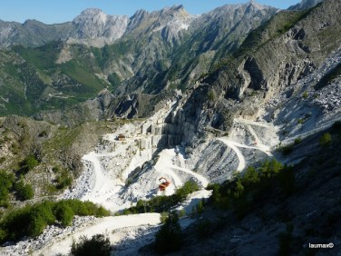 Road inside Marble Cave next to Carrara