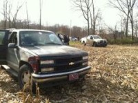 Police say this SUV was previously reported stolen in Marshall County.