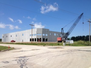 Marshall County Shell Building in the first phases of construction