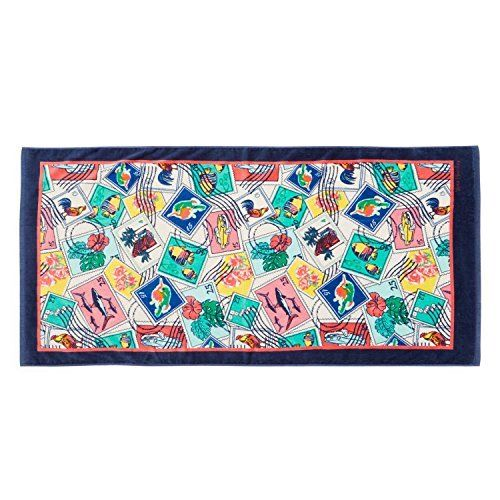 Vera Bradley Cuban Stamps Beach Towel