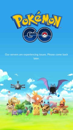 Some time servers are Down - Pokemon Go