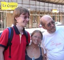 Con i genitori di Carlo Giuliani, Genova 2006