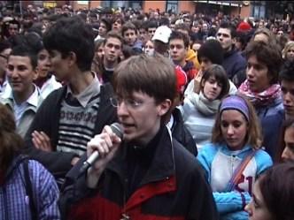 Sciopero studentesco, 12 novembre 2003