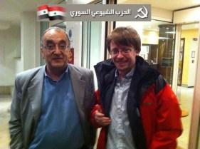 Con Ammar Bagdache, segretario del Partito Comunista Siriano, ottobre 2011