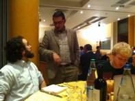 Con Flavio Pettinari (Korean Friendship Association), Francesco Francescaglia (responsabile organizzzaione PdCI) e Franco Tomassoni (FGCI)