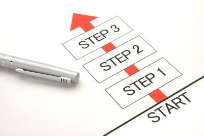 ステップを踏んだ目標のイメージ