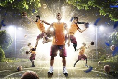 バスケ選手の動きの数々