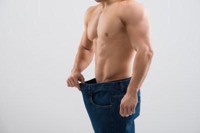 減量した上に筋肉が付いた男性