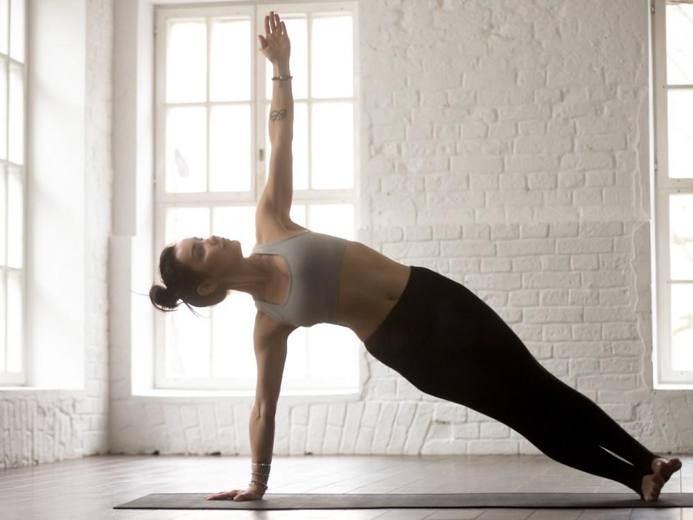 外腹斜筋を鍛える筋トレサイドプランク 女性