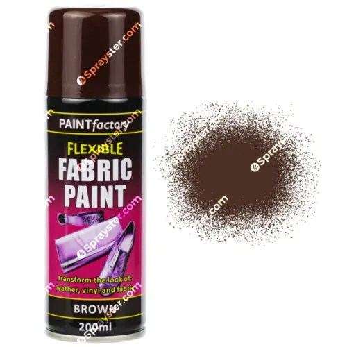 brown fabric spray paint 200ml sprayster. Black Bedroom Furniture Sets. Home Design Ideas