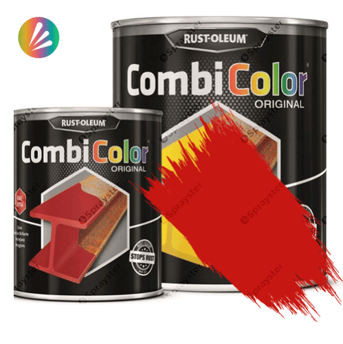 Direct-To-Metal-Paint-Rust-Oleum-CombiColor-Original-Satin-750ml-Sprayster-Traffic-Red