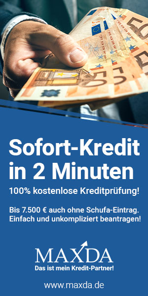 Sofort-Kredit in 2 Minuten