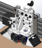 Isometric View Hybrid Extruder