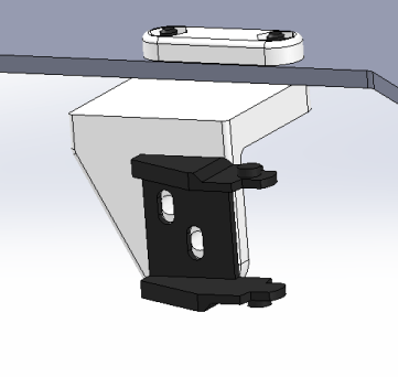 Updated Heatbed Cable Chain Mount