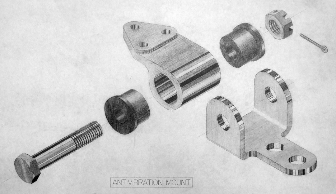 Anti-Vibration Mount drawing by Max Eberle
