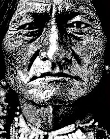 Sitting Bull Print large 8 inch wide 150 dpi tight crop