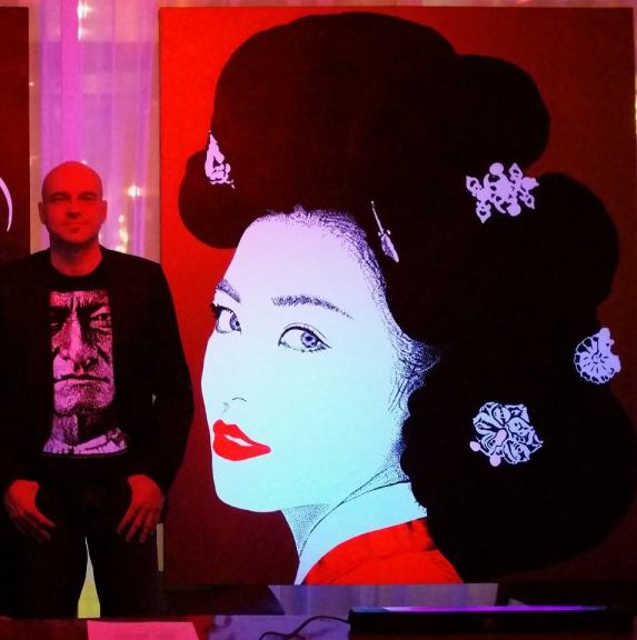 max eberle and geisha painting