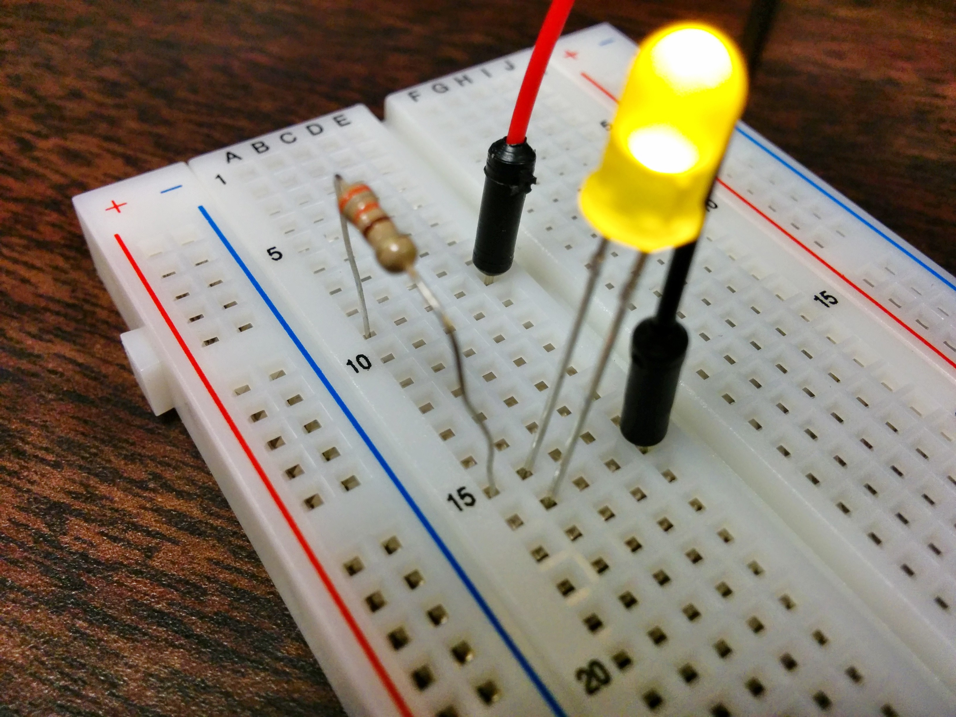 Using The Raspberry Pi Gpio With Python Maxembedded Circuit Further Parallel On Breadboard A Simple Led Blinky