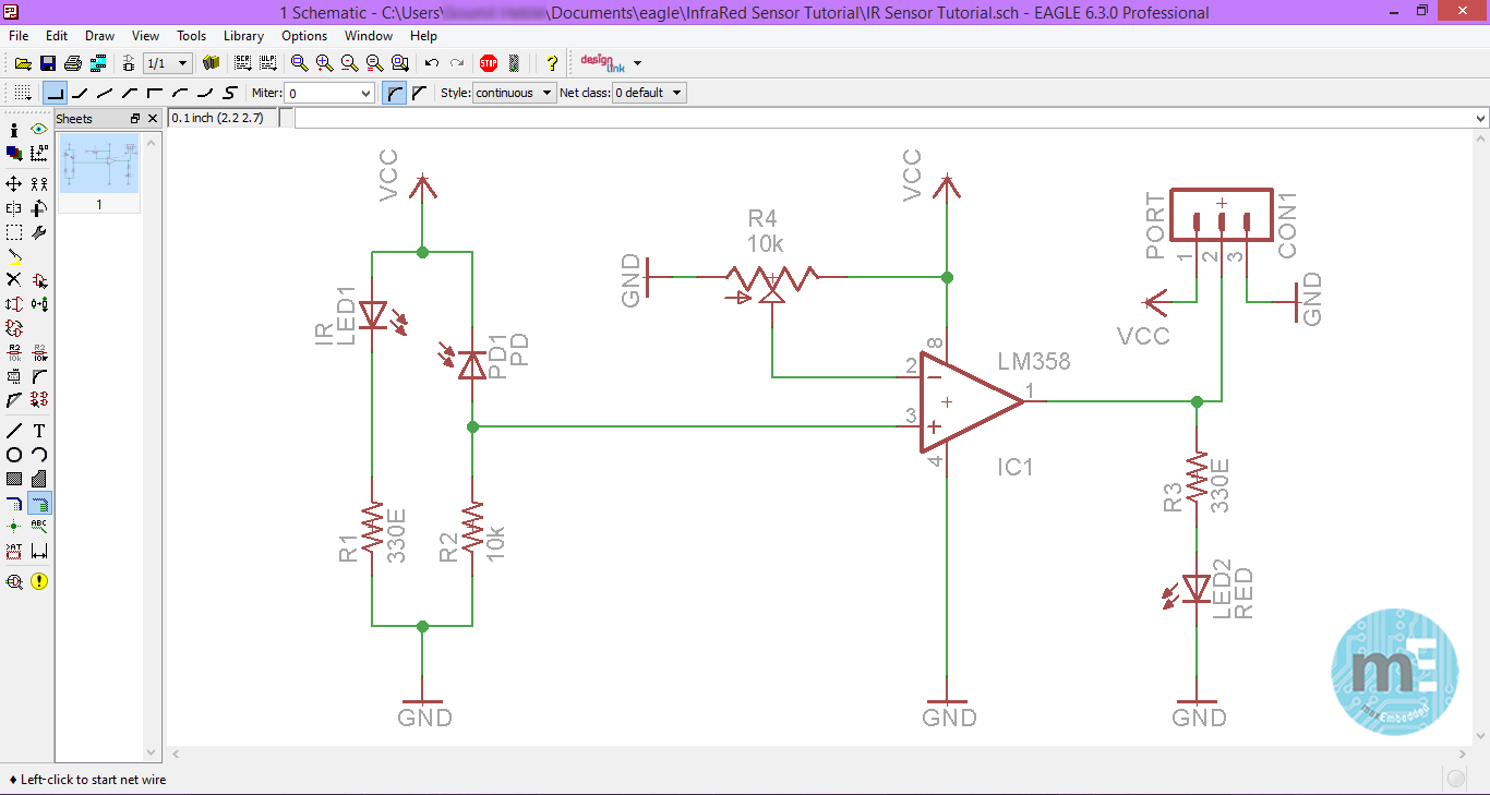 Pcb design using eagle part 2 using the eagle schematic editor final schematic ccuart Choice Image