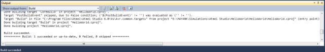 Build Output Message