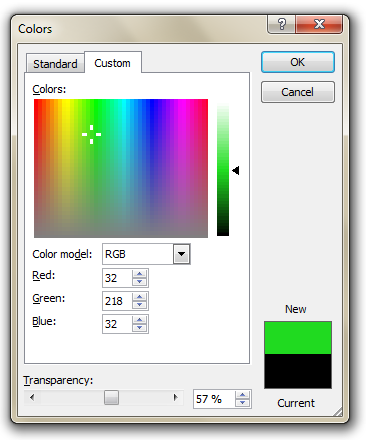 Color Mixer of MS Office