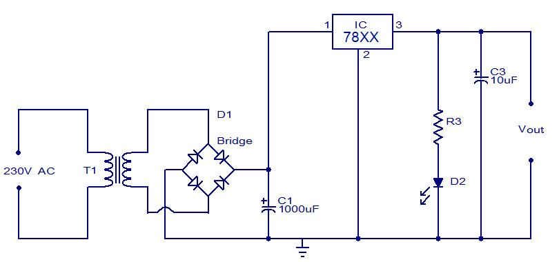 how to build your own power supply » maxembedded, circuit diagram