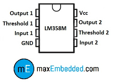 Pin Configuration for LM358M