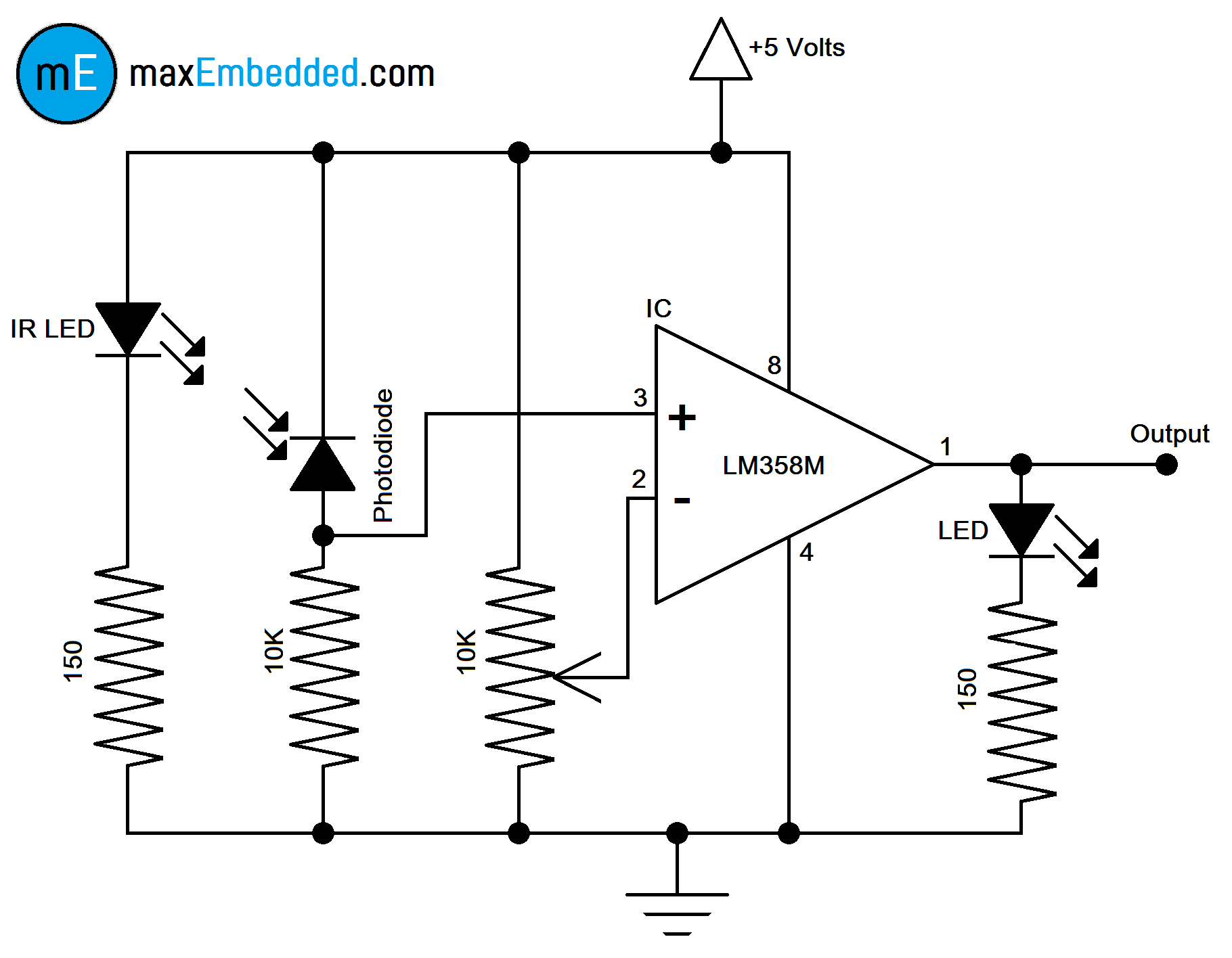 How To Build An Ir Sensor on motion detector circuit diagram