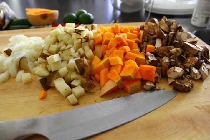 vegetable tamale prep