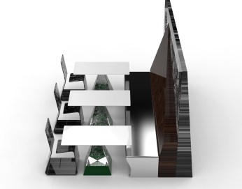 Private Ambition with Lofty Duet - green and dark wood (partitioned seating and corridor creator).712