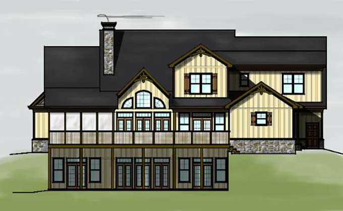 3 Story 4 Bedroom Lake Or Mountain House Plan