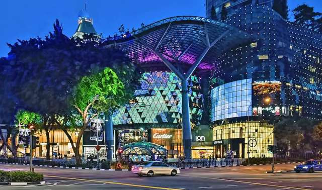 Ion Orchard night1 300x177 Orchard Road in Singapore