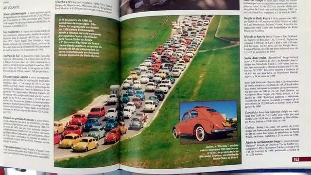 Foto da página 163 do Livro Guinness 1995 que deu um grande destaque para o nosso primeiro recorde